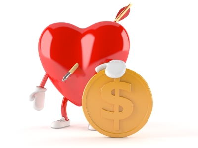heart with $
