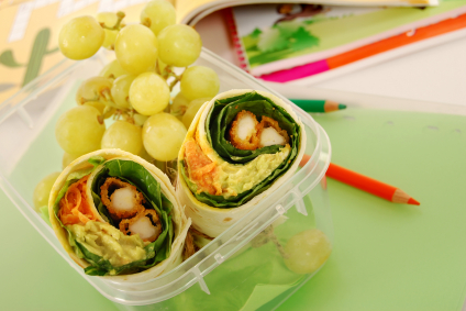 School lunch series: chicken wrap sandwich