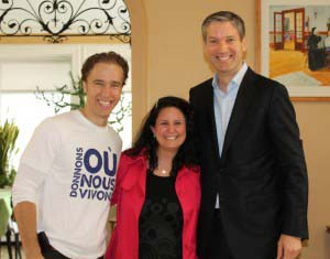 Together with Craig Kielburger of Free The Children (WeDay) & Francois Gratton, President TELUS Quebec & Atlantic Provinces