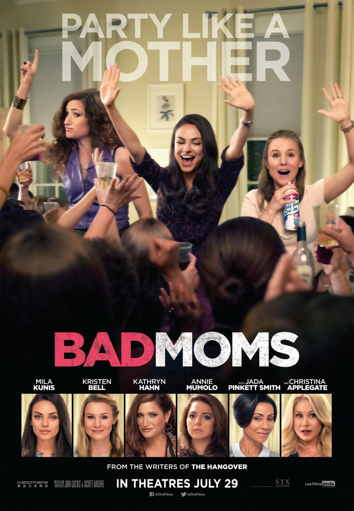 Bad Moms Affiche 27x39 ENG HR no marks