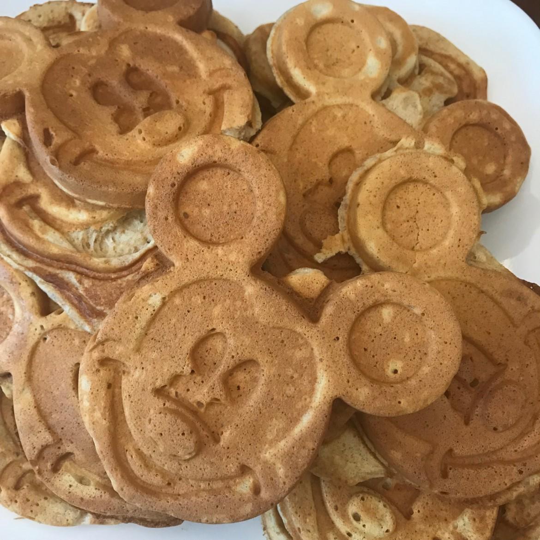 waffles made using a Mickey waffle iron :)